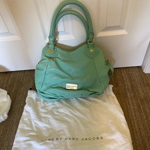 Marc by Marc Jacobs teal convertible satchel